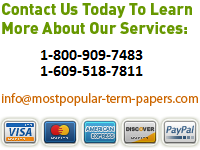 Contact Most Popular Term Papers